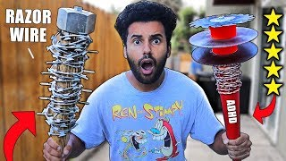 i-bought-diy-zombie-apocalypse-survival-weapons-from-amazon-5-stars-extreme-survival-challenge