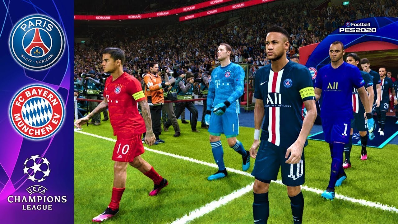 Pes 2020 Psg Vs Bayern Munchen Uefa Champions League 2020 Match Gameplay Youtube