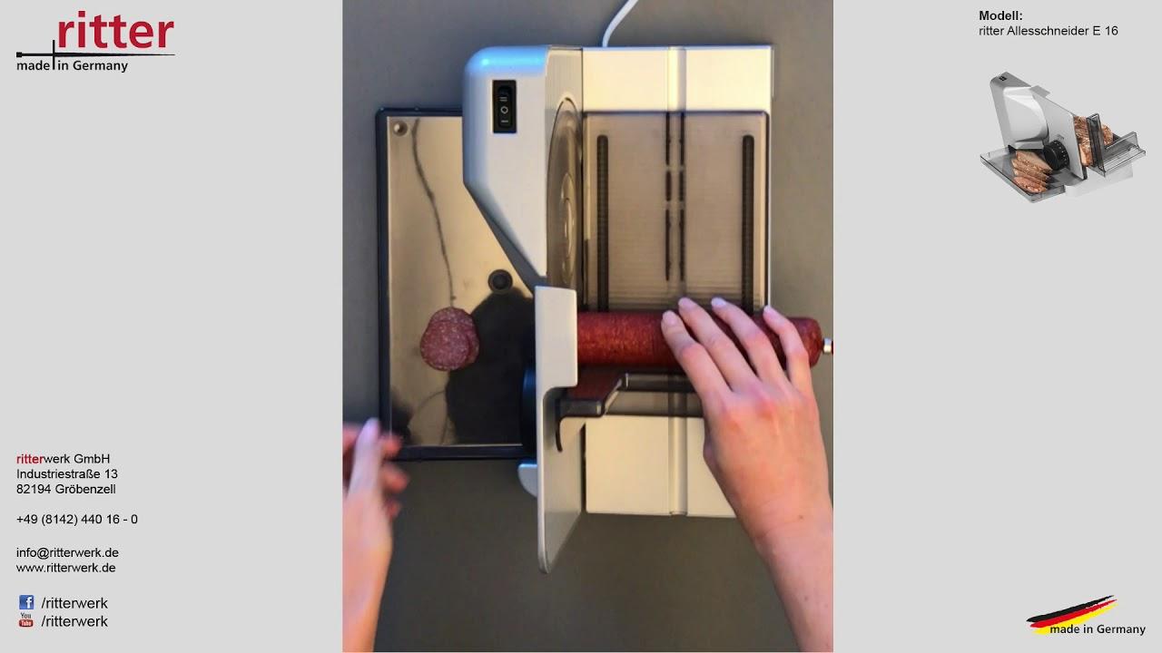 salami d nn schneiden mit dem ritter allesschneider e 16. Black Bedroom Furniture Sets. Home Design Ideas
