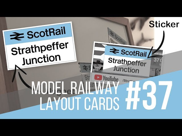 #37 Model Railway/Railroad YouTube Channel Layout Cards