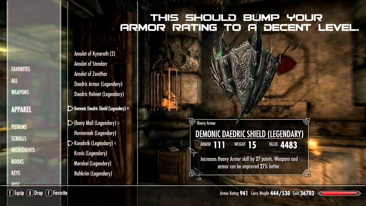 Max armor rating skyrim mods