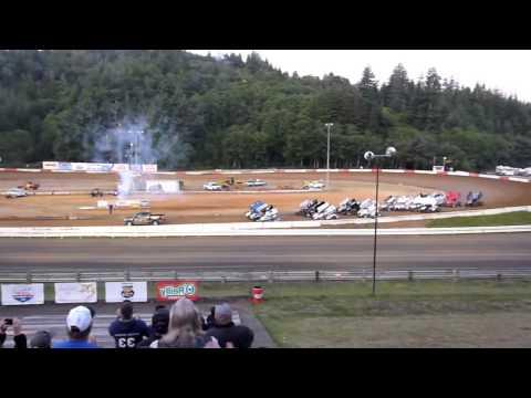 Coos Bay Speedway, Coos Bay, Oregon - Racing Action!