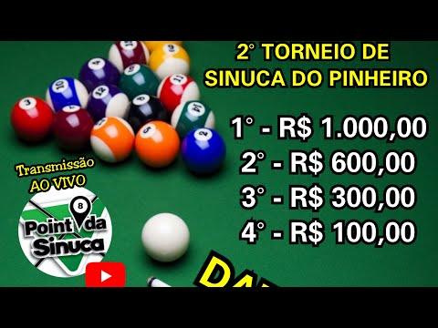 TATUZINHO X MARCOS - 5° E 6° - Torneio De Sinuca Do Pinheiro - Bar do Xexo - TIMBÓ S/C