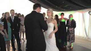 Daniel singing to Nicola on June 30th 2012 on their Wedding Day. Wh...