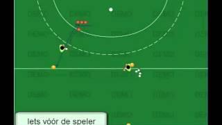 Driehoek-hockeytraining- animatie