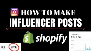 How To Make An Influencer Post (Live Example - Shopify Dropshipping)
