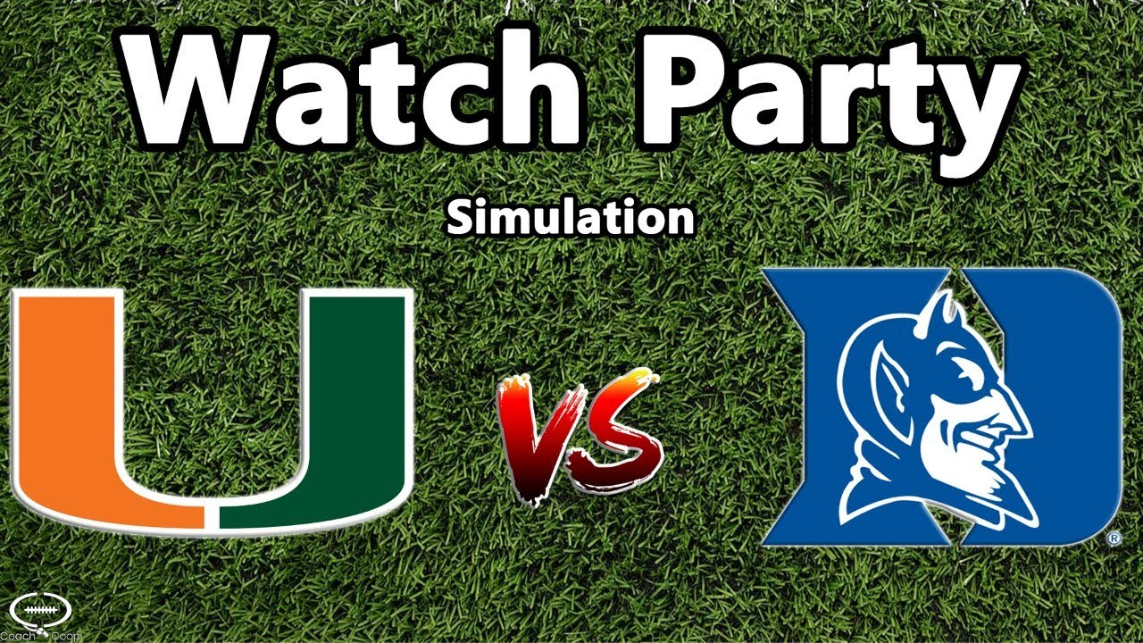Miami Hurricanes vs Duke LIVE Simulation   10-1   2020 Rosters