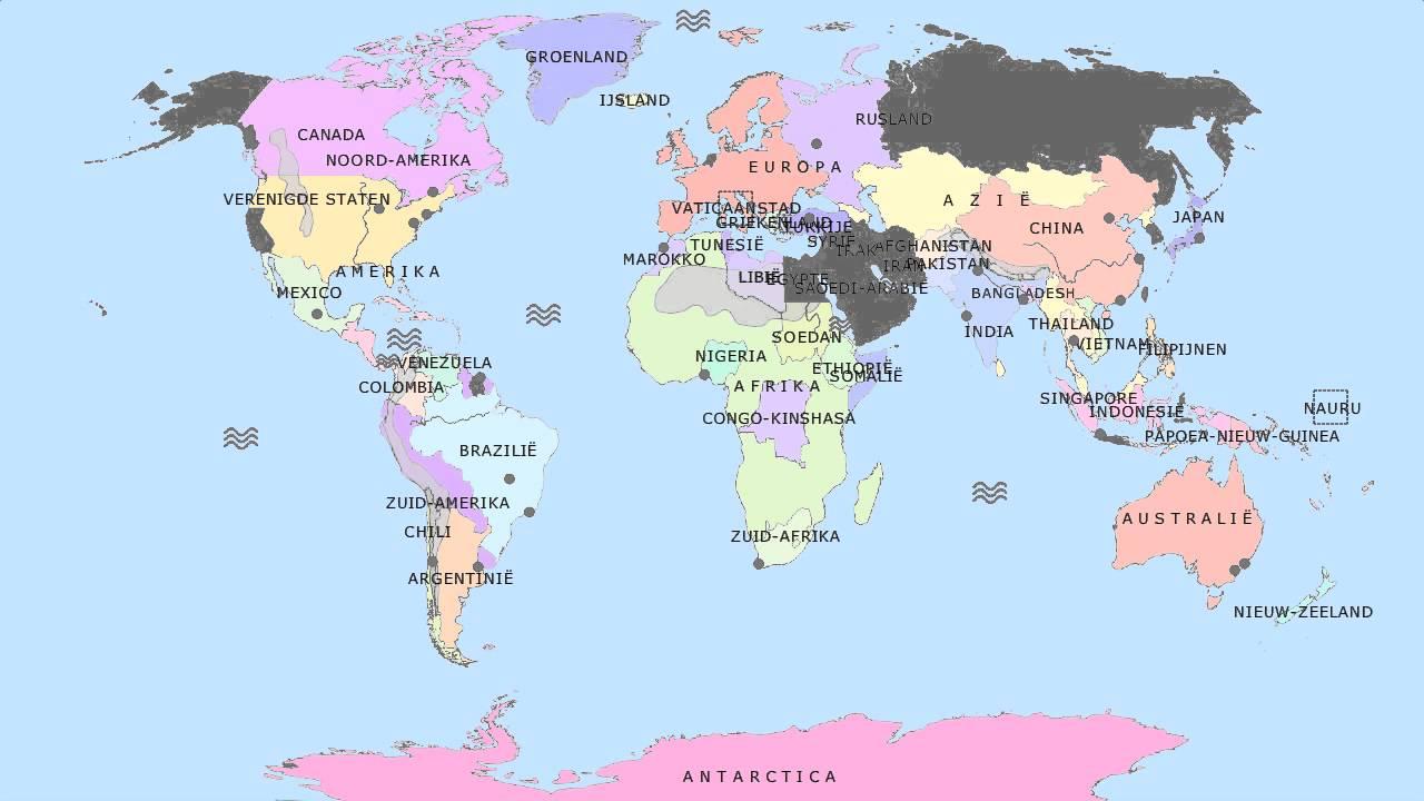 Topografie basiskaart wereld youtube - Vloerlamp van de wereld ...