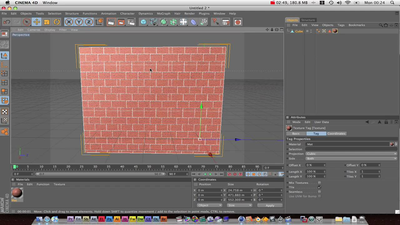 Cinema 4d Tutorial Texture Mapping Youtube