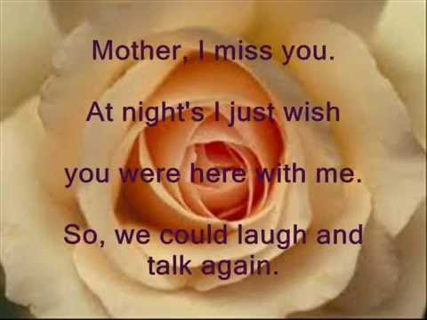 i miss you my mom