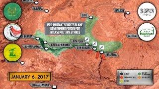 6 января 2017. Военная обстановка в Сирии. Турция усиливает наступление на Эль-Баб. Русский перевод.