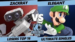 Frostbite 2020 SSBU Losers Top 16 - GW   zackray (ROB) Vs. Armada   Elegant (Luigi) Ultimate Singles