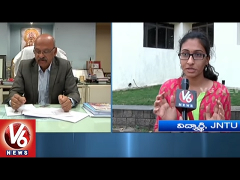 B-Tech 2nd Year Students Unhappy With JNTUH Paper Valuation | Pass  Percentage 26% | V6 News