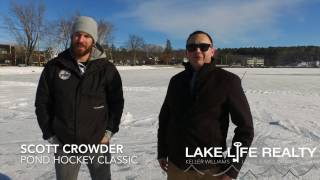 Lake Life Realty meets with Pond Hockey Classic founder Scott Crowder