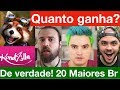 Quanto ganha os 20 maiores do Youtube Brasil? Treta News, Nando Moura, Irmãos Neto, Kondzilla...