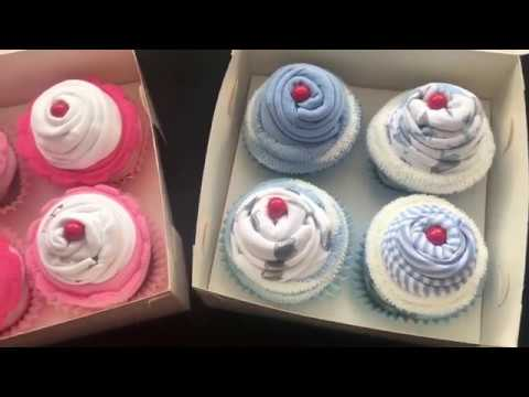 baby clothes cupcakes how to make