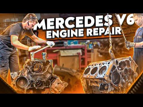 Двигатель OM501LA - пробег 1 млн - первый капитальный ремонт Mercedes Actros. Часть 1 - Разборка
