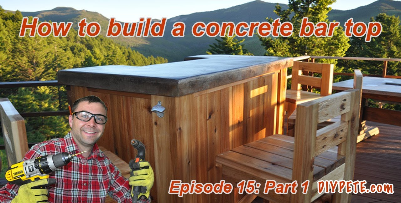 How to Build a Patio Bar with a Concrete Counter Top ...