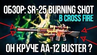 SR-25 BURNING SHOT КРУЧЕ AA-12 BUSTER В CROSS FIRE ?
