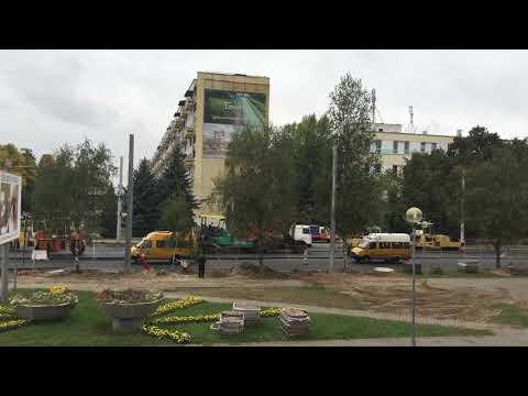Выполнено асфальтирование Партизанского проспекта в Бресте