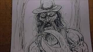 Drawing A Mutant Hillbilly Inktober Day #24