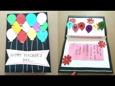 Birthday Cards For Teachers Ideas ~ Diy teacher's day card teacher's day card making ideas for kids