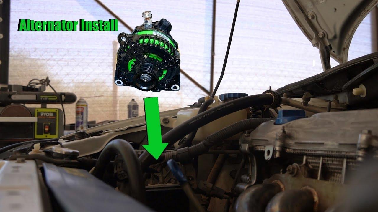 Scion Tc High Output Alternator Install
