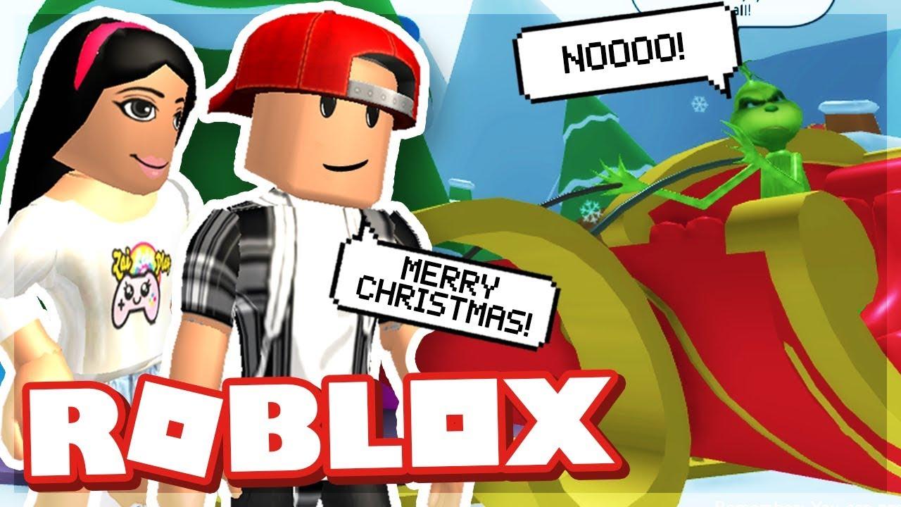 Saving Christmas From Zailetsplay Roblox The Grinch Obby Youtube