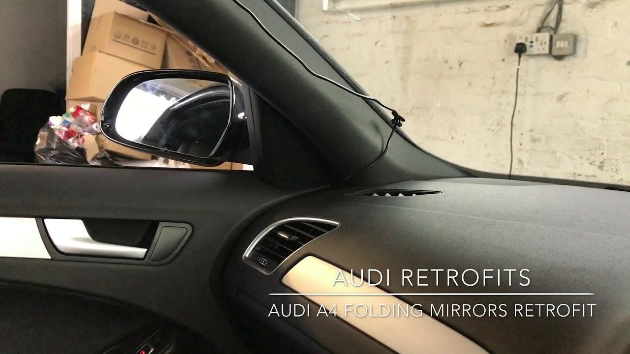Audi A4 Genuine Folding Mirror Retrofit