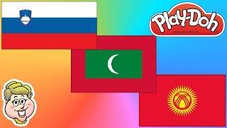 Play-Doh Flags! Slovenia, Maldives, and Kyrgyzstan! EWMJ #422