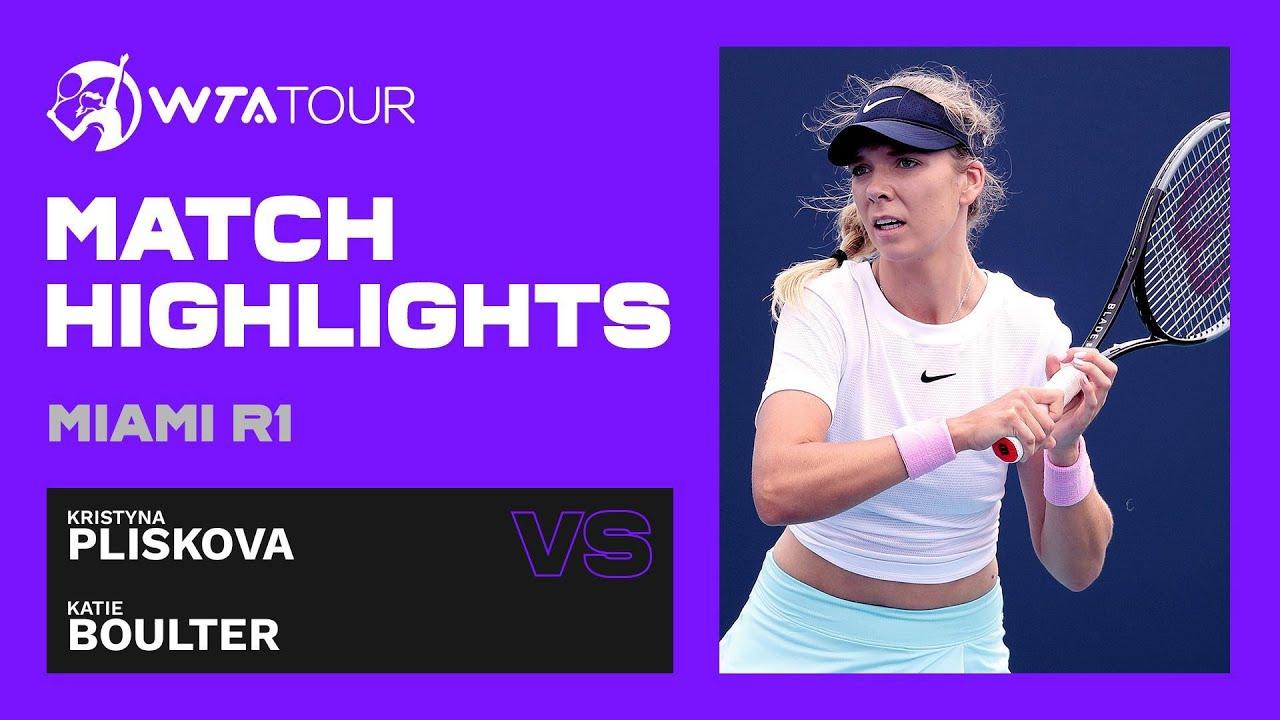 Kristyna Pliskova vs. Katie Boulter | 2021 Miami Round 1 | WTA Match Highlights