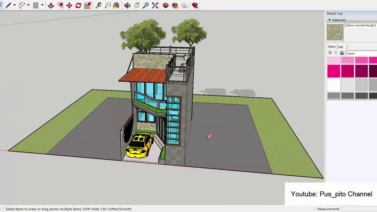 Eps 14 Desain Rumah Modern Minimalis Ukuran 5x10 Meter Plus Garasi