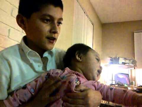 Evan singing to Dahlia
