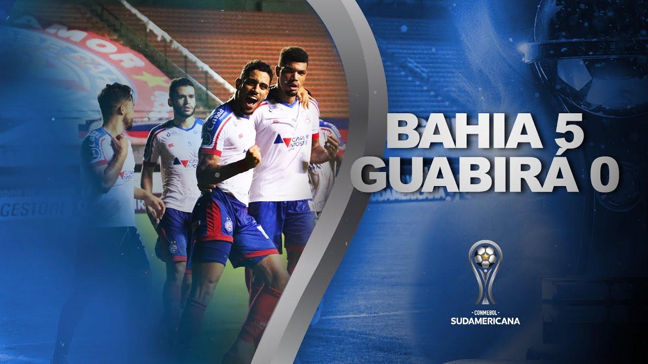 Melhores Momentos | Bahia 5 x 0 Guabirá | Fase de Grupos | Sudamericana 2021 - YouTube