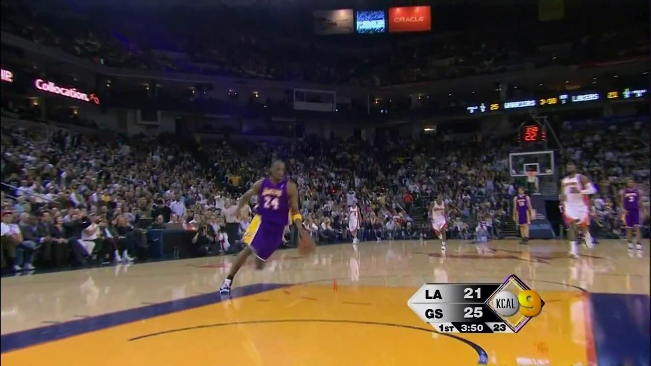 sale retailer b0baf 5f2ae Kobe Bryant 360 Dunk at age 31 vs Warriors