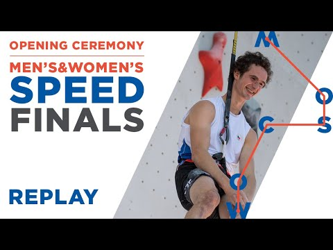 IFSC World Championships Moscow 2021 || Opening Ceremony & Speed Finals