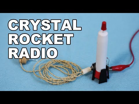 Crystal Rocket Radio - Crystal Radio using a Krazy Glue container.