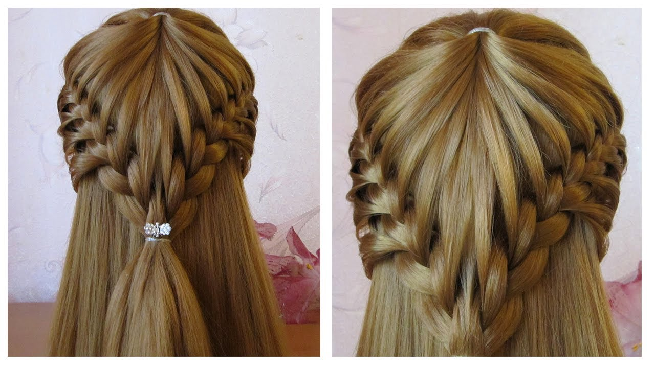 coiffure cheveux long mi long coiffure avec tresse facile faire soi m me youtube. Black Bedroom Furniture Sets. Home Design Ideas