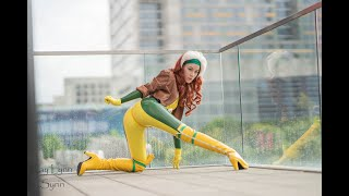 Latex Rogue Cosplay Boudoir