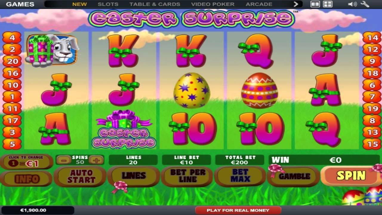 Easter surprise slot machine online playtech diamonds online