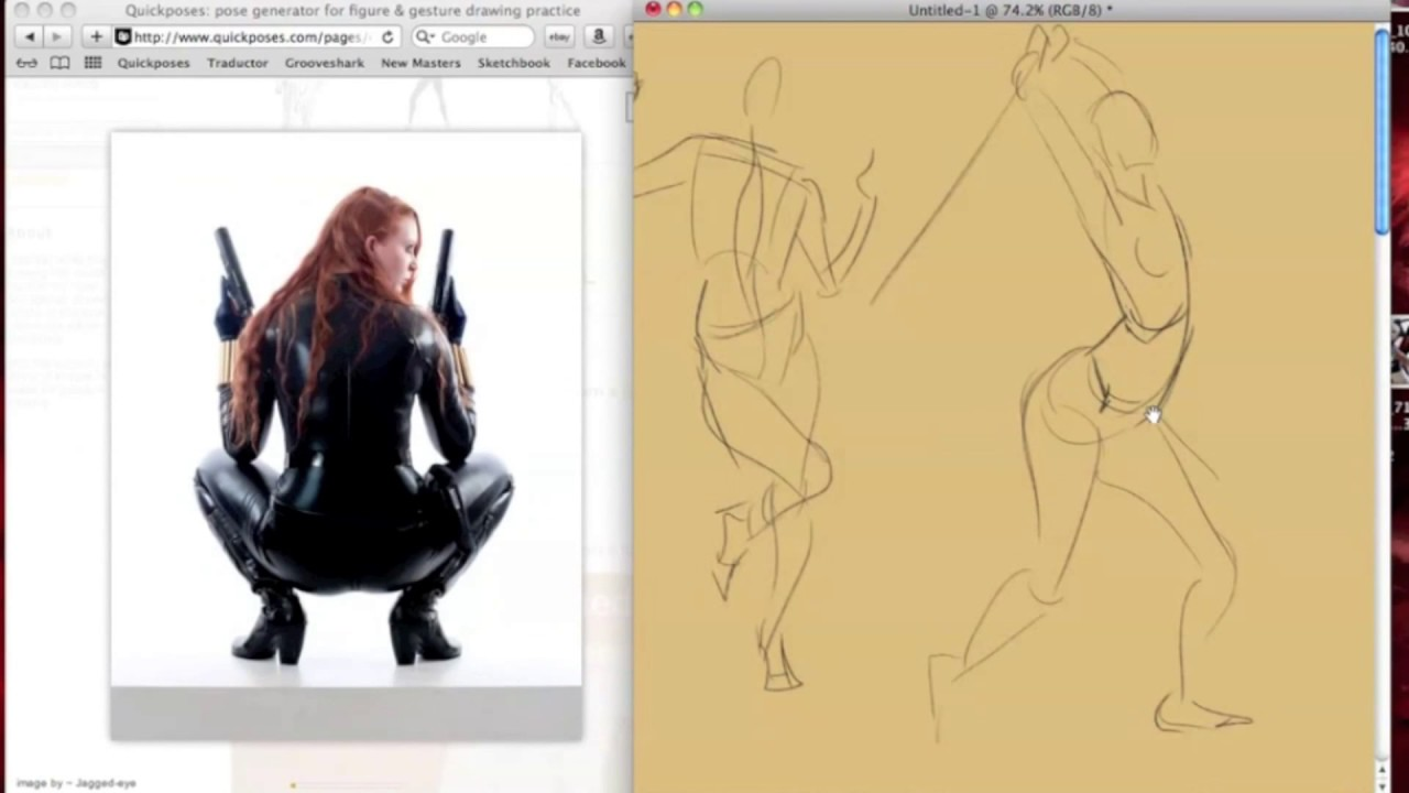 gesture drawing youtube