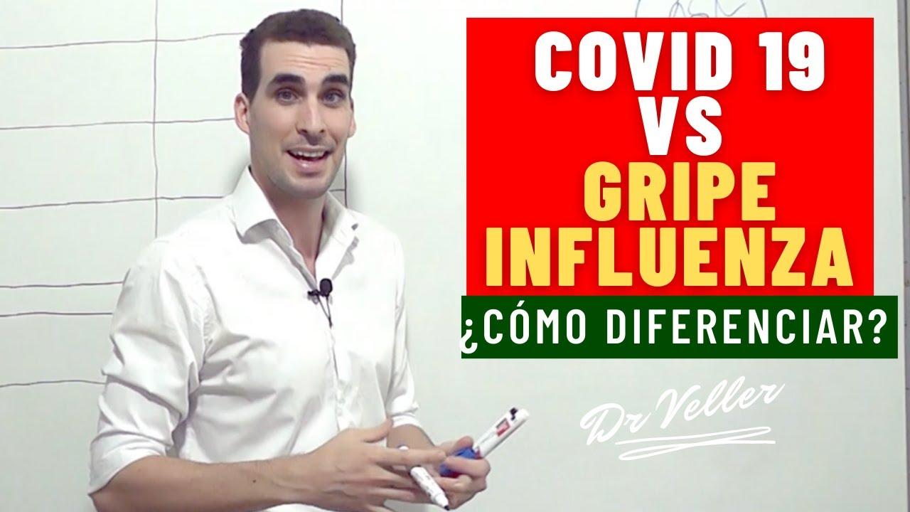 CORONAVIRUS   DIFERENCIAS ENTRE GRIPE Y COVID 19 Dr Veller