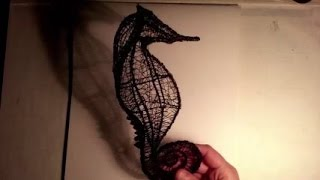 Seahorse, Curves and Spirals (How to Draw With a 3d Pen)