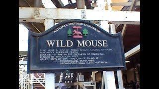 Blackpool Wild Mouse Onride Retro POV Blackpool Pleasure Beach Wooden Roller Coaster England UK