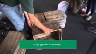 How To : Convert Apple Crates Into A Coffee Table