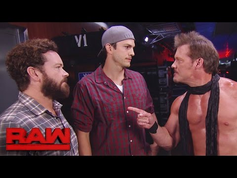Raw guest stars Ashton Kutcher and Danny Masterson confront JeriKO: Raw, Oct. 3, 2016