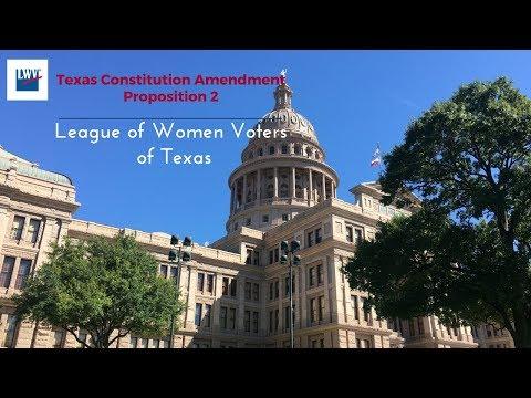 Proposition 2, Texas Constitution Amendment Nov. 7th Election