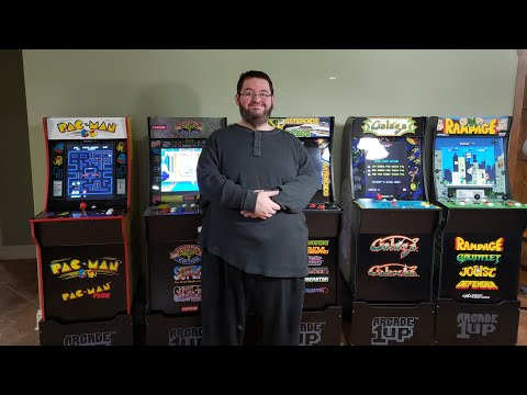 I turned My HOUSE into an ARCADE! Arcade1up REVIEW! Pac-man, Galaga, Rampage, Street Fighter
