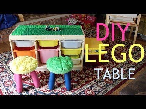 DIY Lego Activity Table & Organization | Babybellykelli