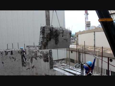 Concrete Silo Sawing Using Tyrolit Hydrostress SK-SD Wire Saw By CS ...